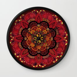Chrysanthemum in lace Wall Clock