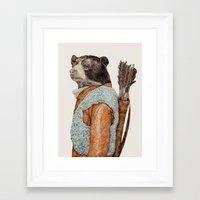 hunter Framed Art Prints featuring HUNTER by Animal Crew
