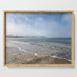 Fog rolling in on Niles Beach 5-9-18 Serving Tray