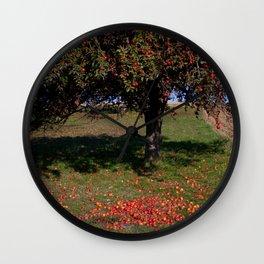 red apples tree Wall Clock