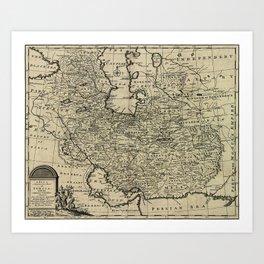 Persia Ancient Map 1747 Art Print