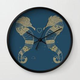 <3 of seahorses Wall Clock