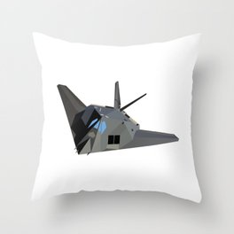 American Stealth Attack Aircraft F-117 Throw Pillow