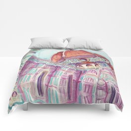 Wining in Florence Comforters