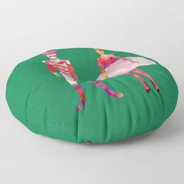 Nutcracker Ballet - Candy Cane Green Floor Pillow