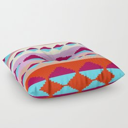Tribal Pyramid Refection Floor Pillow