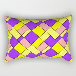 Lemon lilac plaid Rectangular Pillow
