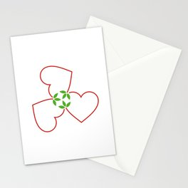 Red hearts for valentines day and love Stationery Cards