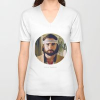 tenenbaum V-neck T-shirts featuring Richie Tenenbaum by VAGABOND