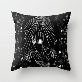 Luna Nueva Throw Pillow