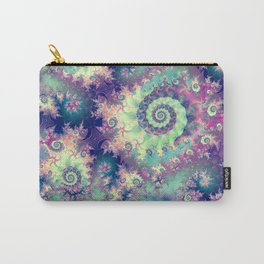 Violet Teal Sea Shells, Abstract Underwater Forest  Carry-All Pouch