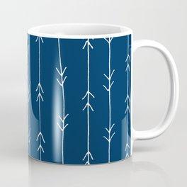 Arrow Pattern: Navy Blue Coffee Mug