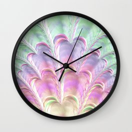 Pastel Fan Wall Clock
