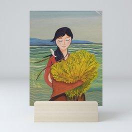AoiShima KiiroiHana | Yuko Nagamori Mini Art Print