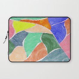 smeared patches Laptop Sleeve