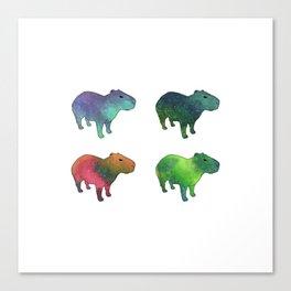 Space Capybaras Canvas Print