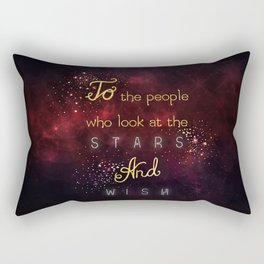 Look at the stars and wish Rectangular Pillow