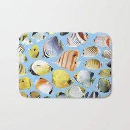 Butterflyfish_Skyblue base Bath Mat