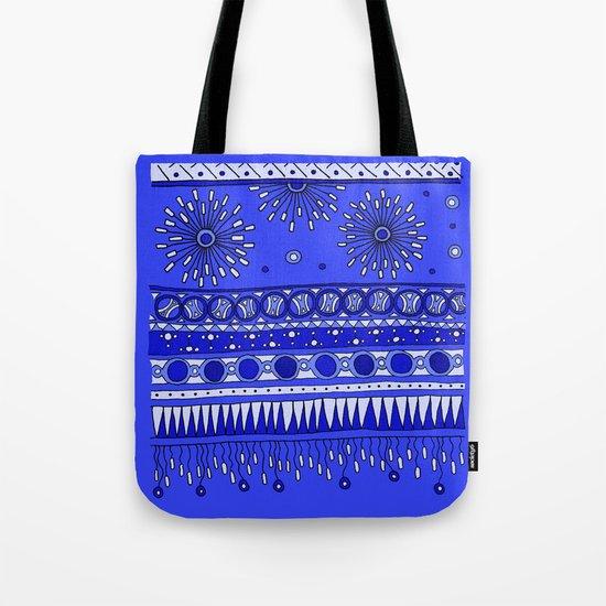Yzor pattern 007-2 blue Tote Bag
