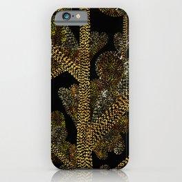 glowing golden swirly tree iPhone Case