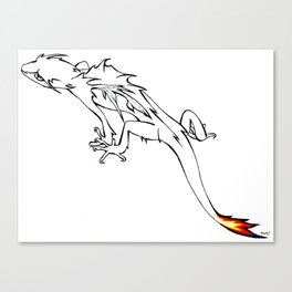 Little Flame-tailed Dragon Canvas Print