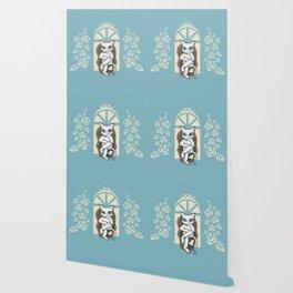 Rattan chair Wallpaper