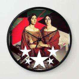 Red Twin Wall Clock