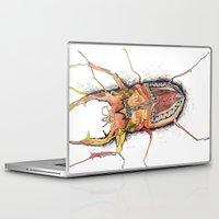beetle Laptop & iPad Skins featuring Beetle by Cherry Virginia