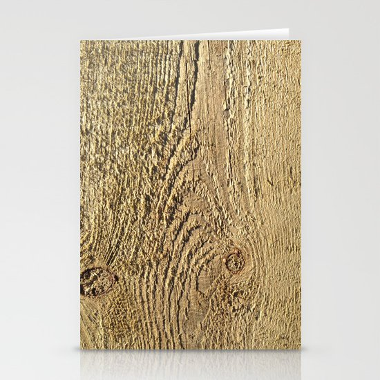 Unrefined Wood Grain Stationery Cards