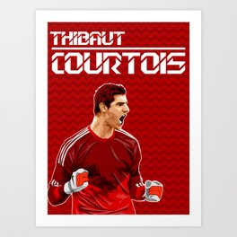 Thibaut Courtois Art Print