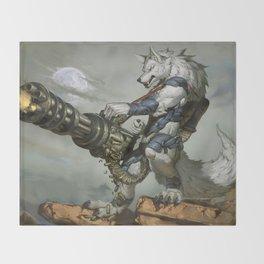 Thunder Werewolf Throw Blanket