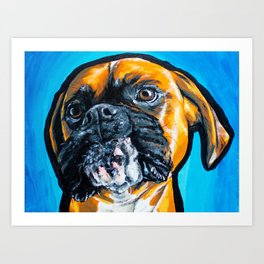 Fawn Boxer Pop Art Design Art Print