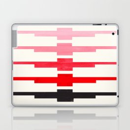 Ancient Aztec Inca Geometric Pattern Watercolor Red Colorful Gouache Painting Laptop & iPad Skin