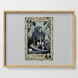 Death Card Serving Tray