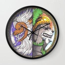 Zou Day & night rulers Wall Clock