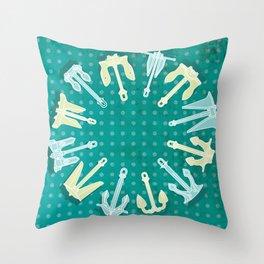 sea anchor Throw Pillow