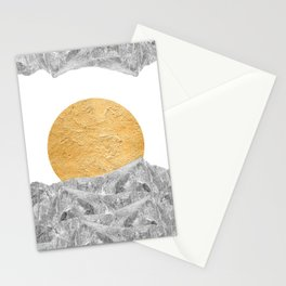 Modern Abstract - Sun and Mountains Stationery Cards