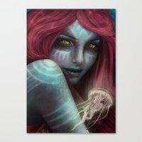 "ariel Canvas Prints featuring ""Ariel"" by PeeGeeArts"