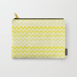 Yellow Ombre Chevron Carry-All Pouch