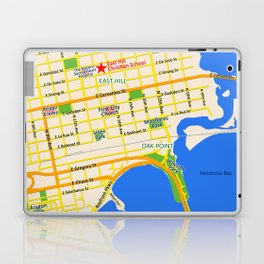 Map of Pensacola, FL - East Hill Christian School Laptop & iPad Skin