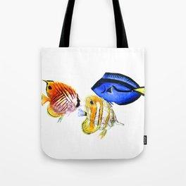 Coral Fish, tropical fish artwork, coral sea world Tote Bag