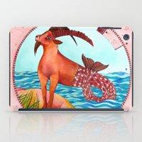 capricorn iPad Cases featuring Capricorn by Sandra Nascimento