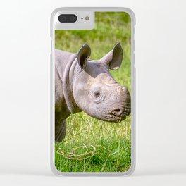 Baby Black Rhino. Clear iPhone Case