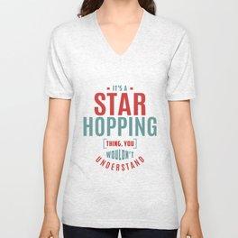 Star Hopping Thing Unisex V-Neck