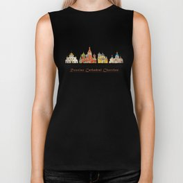 Colorful Cathedral Churches Biker Tank