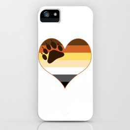 Bear Heart Paw Edition iPhone Case