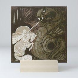 St George and the Dragon Mini Art Print