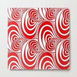 """Koloman (Kolo) Moser """"Textile pattern (Swirls)"""" (2) Metal Print"""