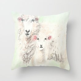 Ewe Two Throw Pillow
