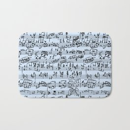 Hand Written Sheet Music // Light Blue Bath Mat